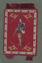Cigarette cards silk felt blanket soldiers with  Austria flags circa 1920' #543